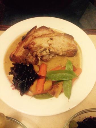 The Station Inn: Pork belly & veg