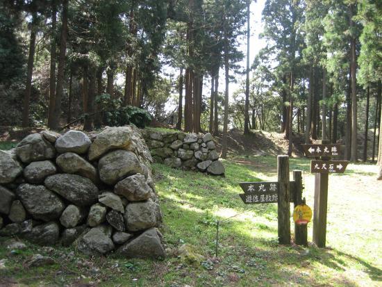Noto Peninsula : 七尾城本丸に残されている石垣