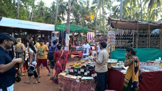 Αντζούνα, Ινδία: anjuna flea market