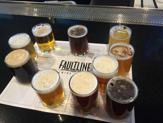 Faultline Brewing Company: Tasting Sampler