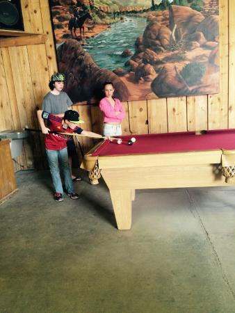 Inside The Recreation Barn Pool Table Picture Of Zion Ponderosa - Ponderosa pool table