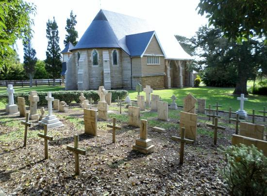 St. Barnabas Church: Historic graveyard behind the church