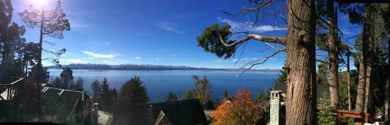 Cabanas Las Cuatro Estaciones : panoramica vistas desde el deck mirador