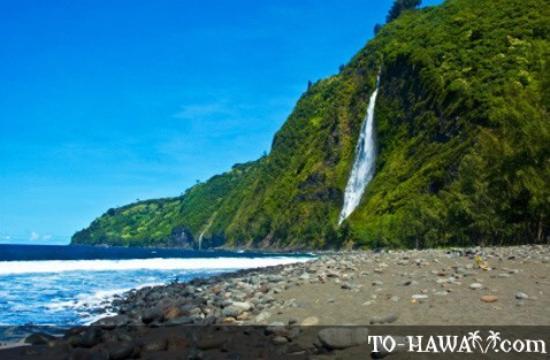 Waiulili falls drops down from Hale Kukui property