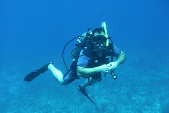 Scuba Safaris: Me on my first dive as a certified Open Water Diver