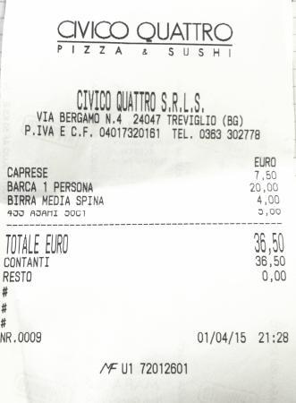 Treviglio, Italia: pizza e sushi