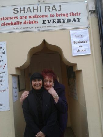 Shahi Raj: Rahela and I at the door way