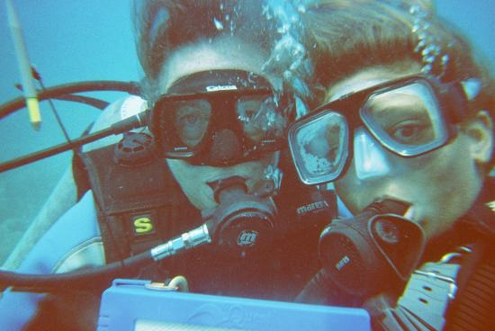 Blue Water Divers: my instructor and I