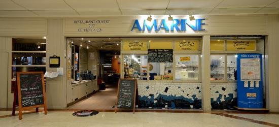 Amarine Villeneuve d'Ascq : L'entrée et le banc d'écaille