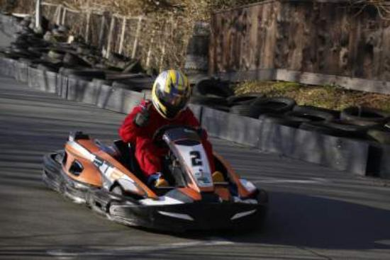 Wight Karting: winning position in 2nd heat