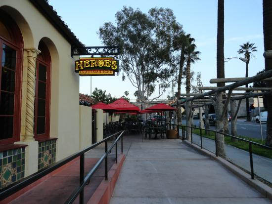 Heroes Restaurant Brewery Front Patio Area