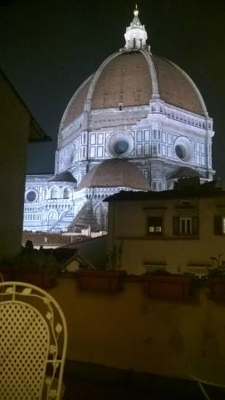 Al Duomo: la vista dal balcone - sera