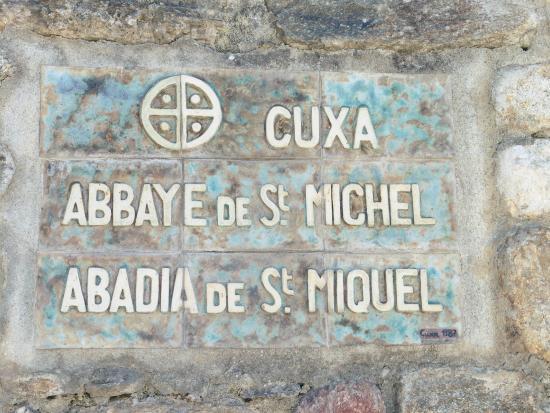 Saint-Michel-de-Cuxa : entrée de l'Abbaye