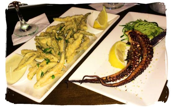 GreekTown Grille: Fried Smelts and Char-grilled Octopus