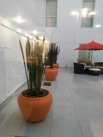 City Express Plus Insurgentes Sur : foto del cubo de en medio del hotel