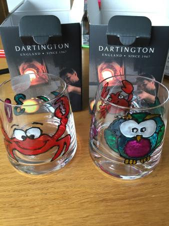Dartington Crystal: Glass painting
