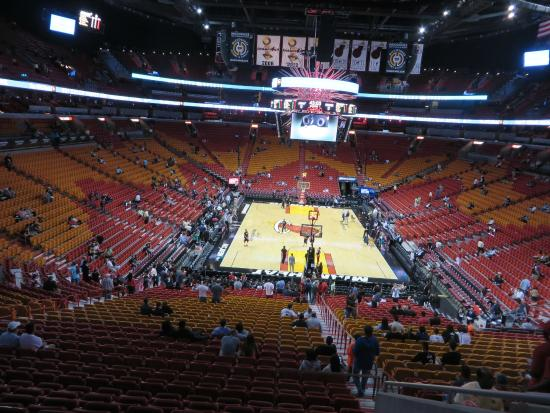 view from our seat picture of american airlines arena miami rh tripadvisor com