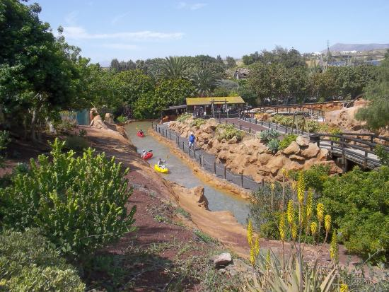 on the water slide - Picture of Rancho Texas Lanzarote Park, Puerto Del Carme...
