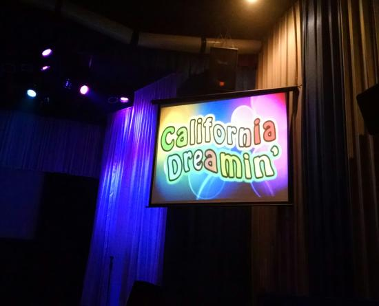 California Dreamin': marquee in side theater.