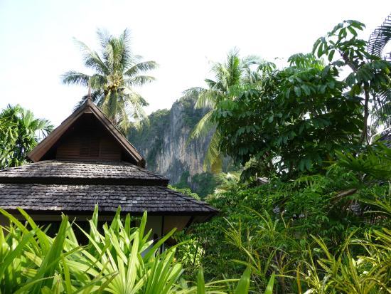 Railay Village Resort: Hotelanlage, im Hintergrund die Kalksteinfelsen
