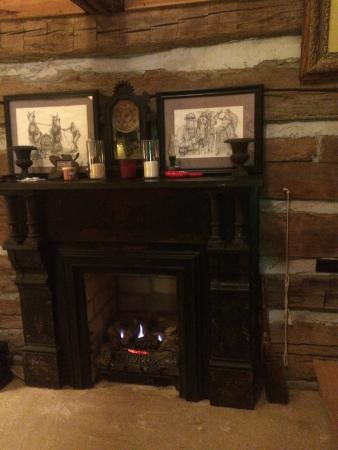 Pecan Grove Bed and Breakfast : Gas Fireplace that heated our Room