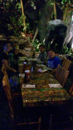 Rainforest Cafe: kids loved the baby elephant moving its trunk