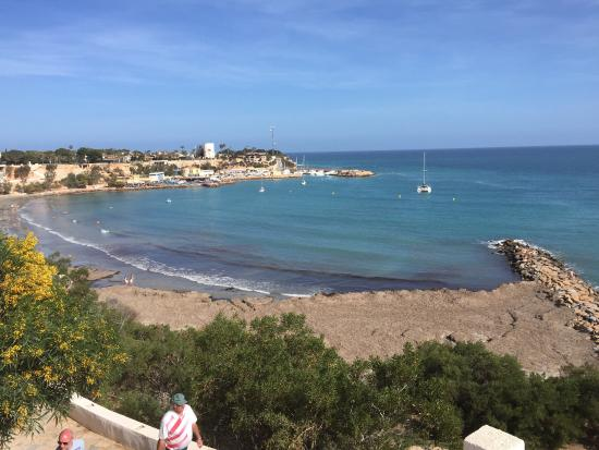 Playa de Cabo Roig: Relatively sunny day at Cabo Roig Beach. Beach was a bit torn up though and certain areas looked