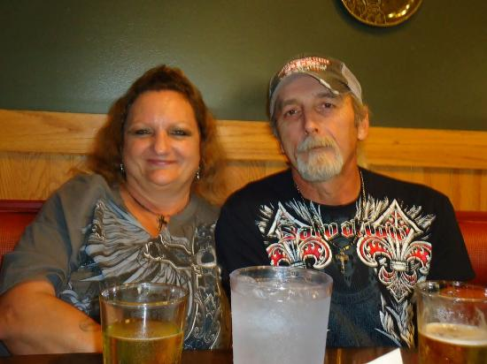 Dock's Motel & Cabins: This is us at the Mexican Restaurant close to them eating an awesome meal..