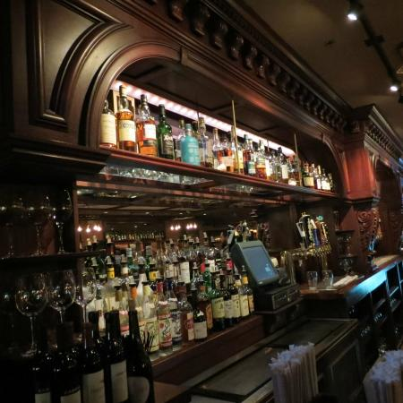 The Cask Republic: From the end of the bar by the Scotch collection.