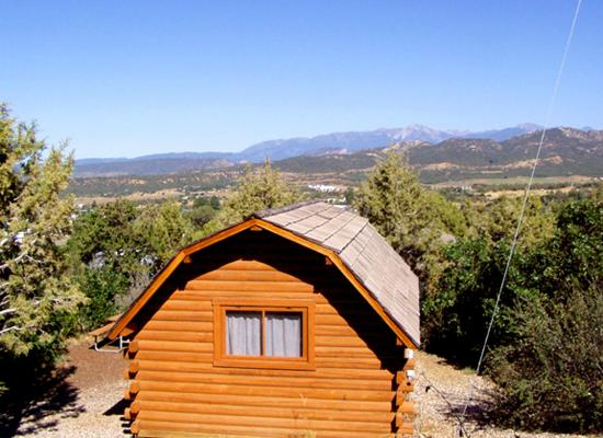 Camping cabins with a view picture of durango koa for Cabins to stay in durango colorado