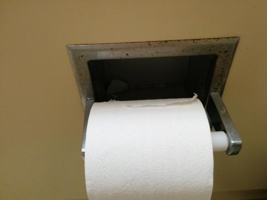 Comfort Inn: Toilet paper holder