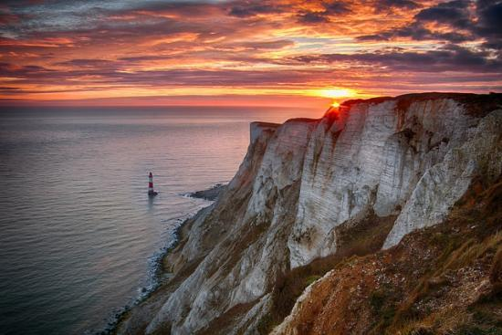 Eastbourne, UK: Beachy Head Sunset