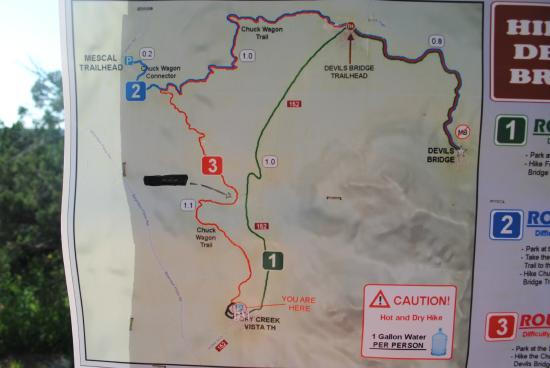 Trail map from the parking lot, not from the trail head - Bild von on
