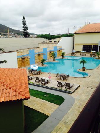 Hotel Estacao Cruzeiro : Vista da piscina do 1o andar