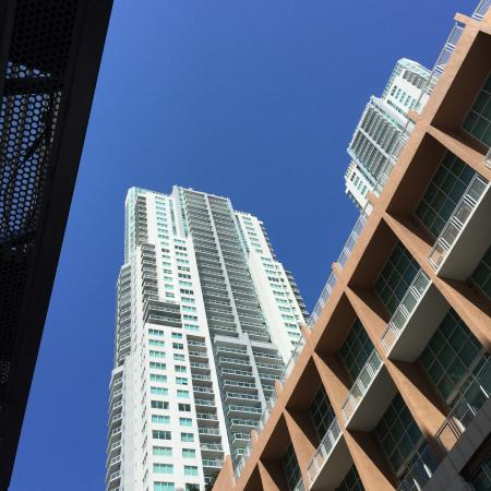 Downtown Miami sky view