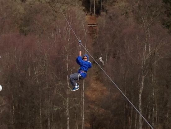 Go Ape Aberfoyle: Zip lines, one of many