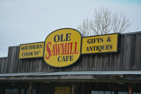 Ole Sawmill Cafe: Signage Over Front Door
