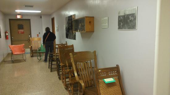 Lovely Glore Psychiatric Museum: Wooden Rocking Chairs That Patients Used