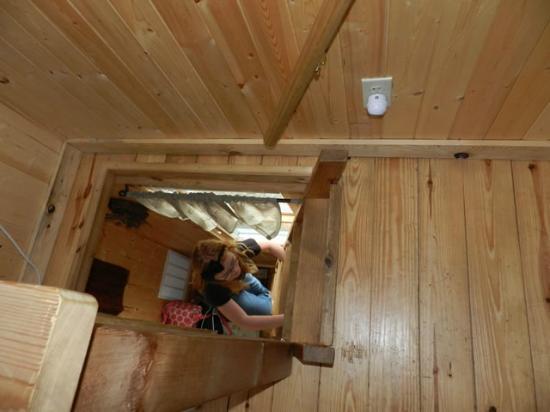 Elizabethtown, IL: White Oak loft ladder