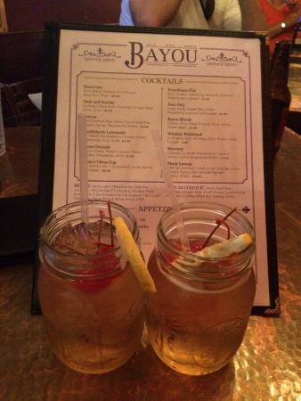 Bayou: Long Island Ice Tea! Nice drinks but lacking in service. Get bartenders who enjoy being bartende