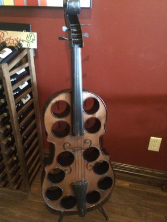 Logansport, IN: Wine bottle holder . But it's not for sale :-(