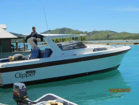 "Malolo Lailai Island, Fiji: The quick craft - ""Clipper"""