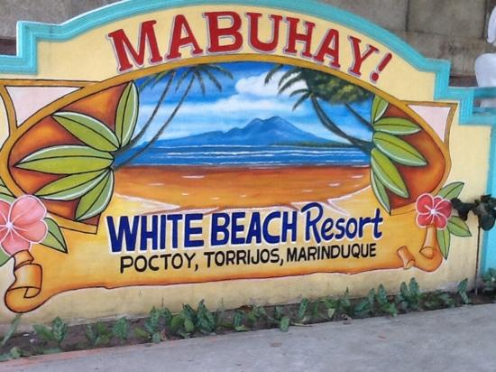 Poctoy White Beach: poctoy beach welcome message