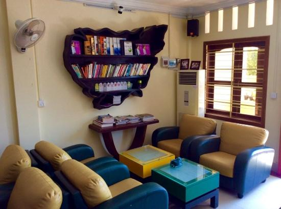 Cafe Jireh Mini Library Inside The