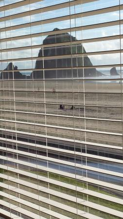 Ecola Inn: View of Haystack from Room 6