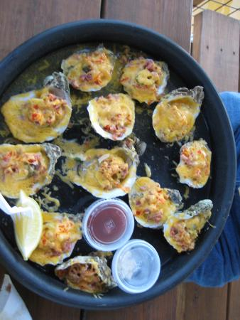 baked oysters with parm cheese