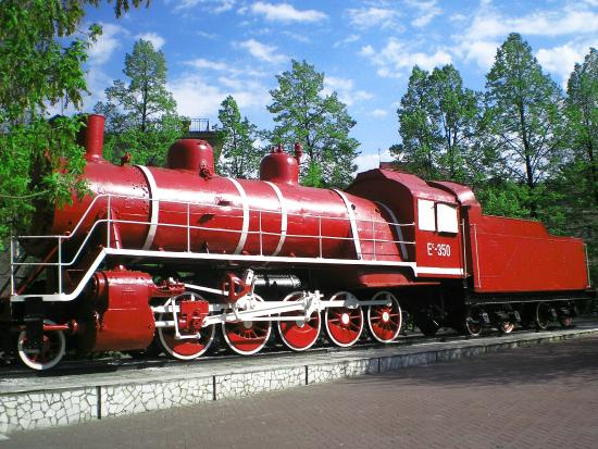 Red Communar Steam Train