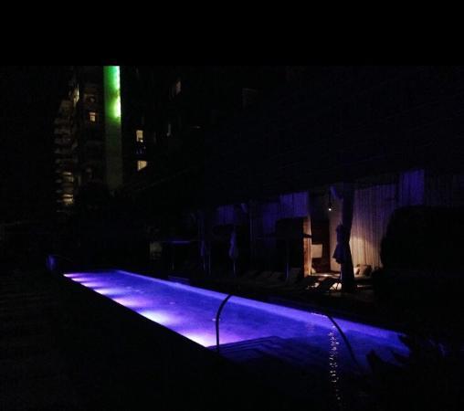 W Austin: Very sexy pool at night.