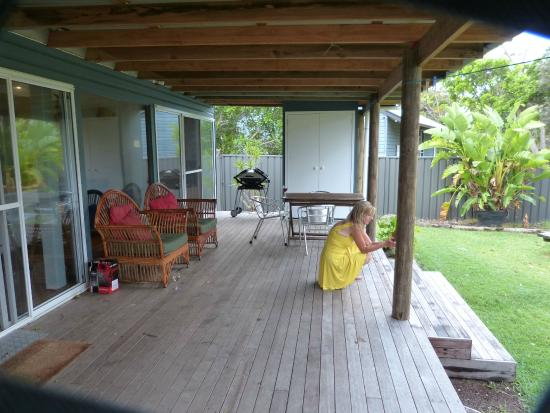 deck with laundry  bbq  picture of tallow beach houses, suffolk, tallow beach houses stayz, tallow beach houses tripadvisor, tallows beach holiday houses