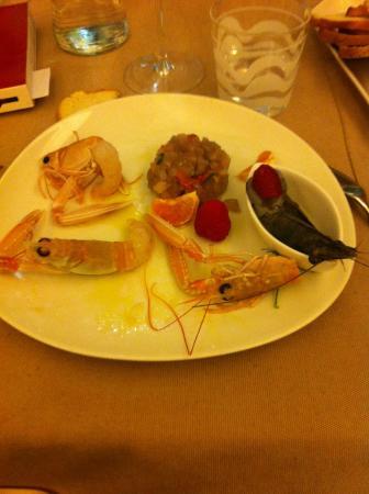 Tavernetta A Scuea: il gambero blu, il crudo di pesce